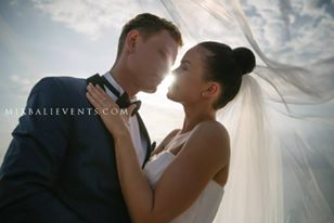 Aero shooting. Wedding in Bali on a cliff over the ocean - Ruta and Andrew