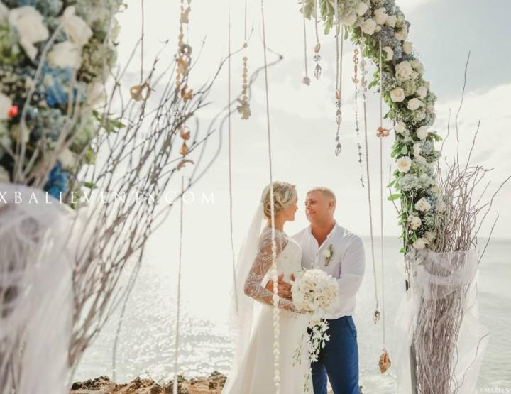 Bulgari Wedding on a cliff by the Ocean