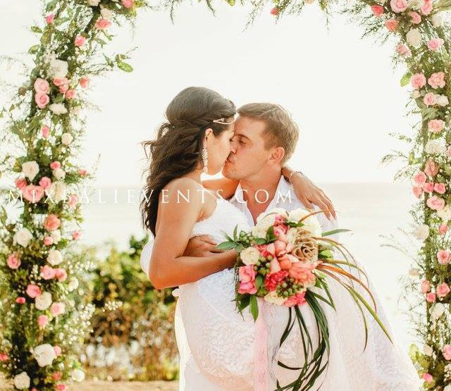 Rustic Chic wedding on the cliff above the ocean