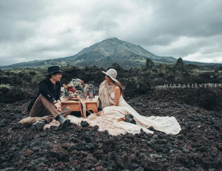 Stylish and fashionable MOODY & BOHO WEDDING ON VOLCANO. Sofia and Alex - in MIX Bali Events
