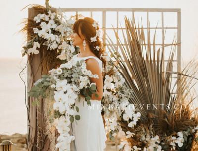 Stylish Grey Wedding by the ocean